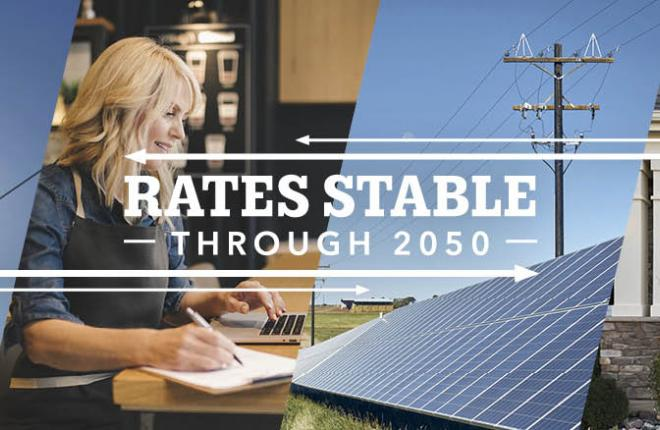 Tri-State's wholesale rates are stable, and forecasted to remain so to 2050