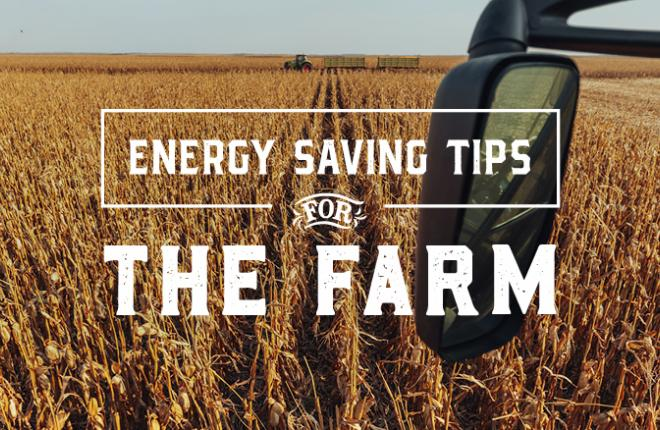 Energy saving tips for farmers